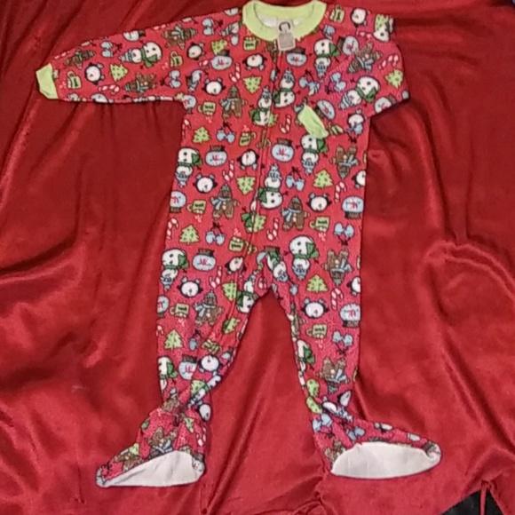 Gerber Other - 🎄3/$10 X-mas Gerber toddler zip-up pajamas sz 24m